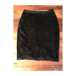 ANN Taylor fully lined sequined skirt